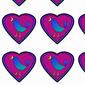 Heart Birds Ornies Medium