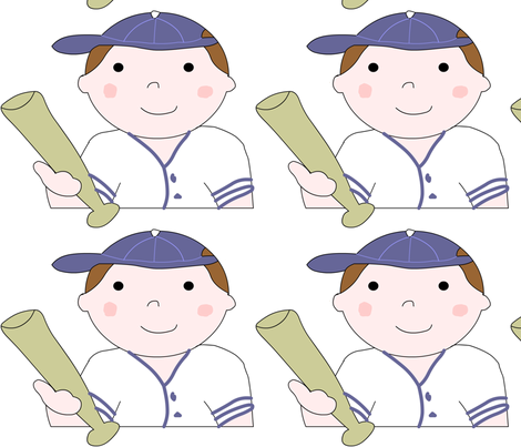 baseballboy fabric by andtwinsmake5 on Spoonflower - custom fabric