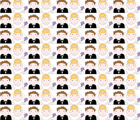 brideandgroom fabric by andtwinsmake5 on Spoonflower - custom fabric