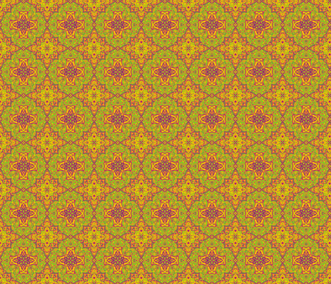 Citrus Medallion fabric by littlebear on Spoonflower - custom fabric