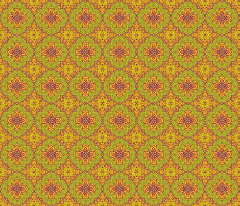 Citrus Medallion fabric by littlebear on Spoonflower - custom fabric