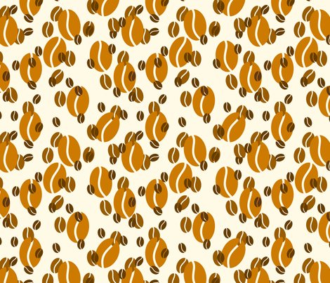 Coffee - Beans fabric by studiofibonacci on Spoonflower - custom fabric