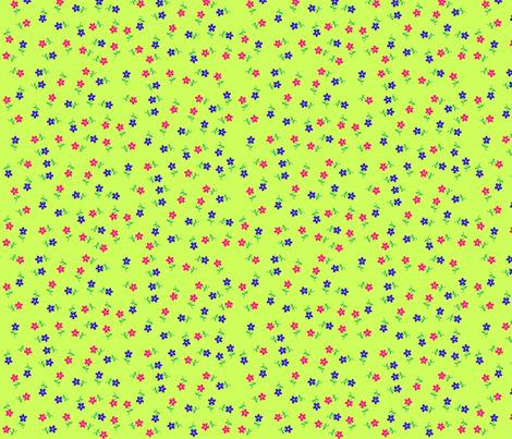 Chartreuse Calico fabric by serenity_ii on Spoonflower - custom fabric