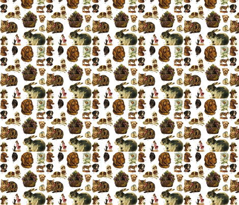 Pet_Motifs_D fabric by maureclaire on Spoonflower - custom fabric