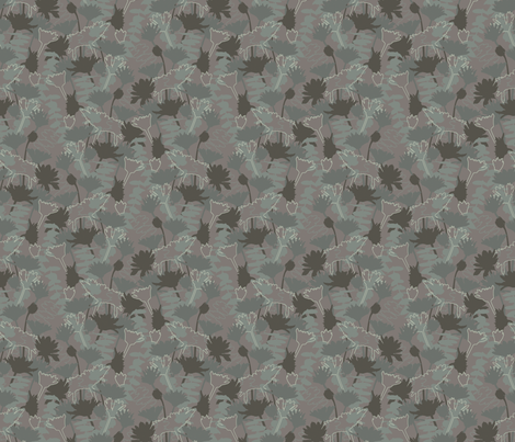 Silhouette: Allover fabric by bronhoffer on Spoonflower - custom fabric