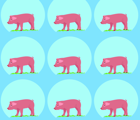 Piggie fabric by sewbettie on Spoonflower - custom fabric