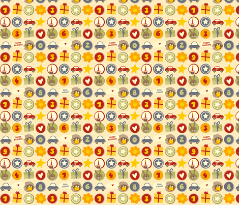 Birthday_Boy fabric by utehil on Spoonflower - custom fabric
