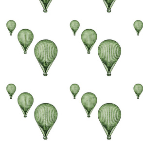 balloon_green_8_by_8_quilt_block