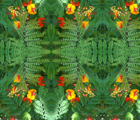 Pride of Barbados fabric by janied on Spoonflower - custom fabric