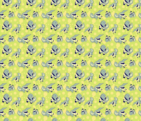 anteater fabric by eloisenarrigan on Spoonflower - custom fabric