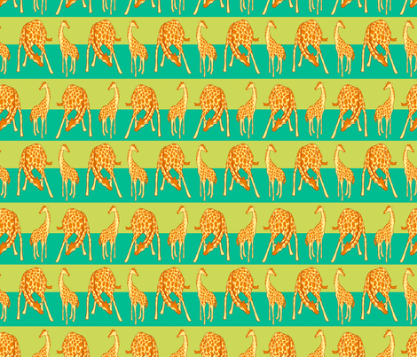 Giraffe Spots and Stripe fabric by eloisenarrigan on Spoonflower - custom fabric