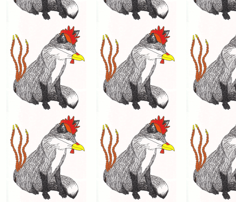 foxchicken fabric by maghee on Spoonflower - custom fabric