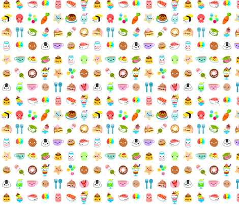 yummy foods fabric by berrysprite on Spoonflower - custom fabric
