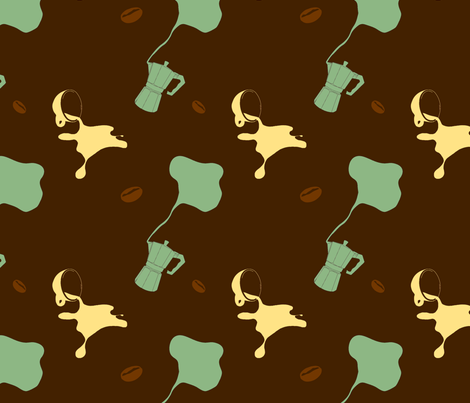 spilt_coffee fabric by pigeoncircus on Spoonflower - custom fabric
