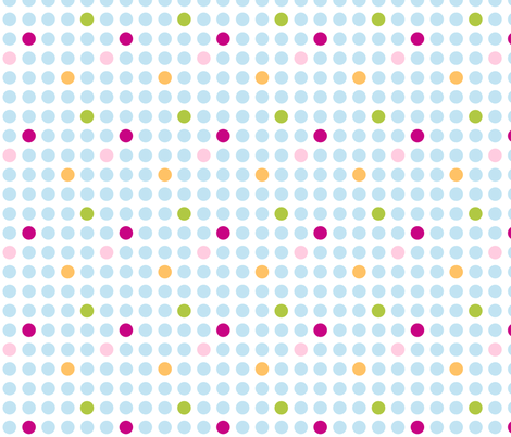 Turquoise Spots fabric by flowerpress on Spoonflower - custom fabric