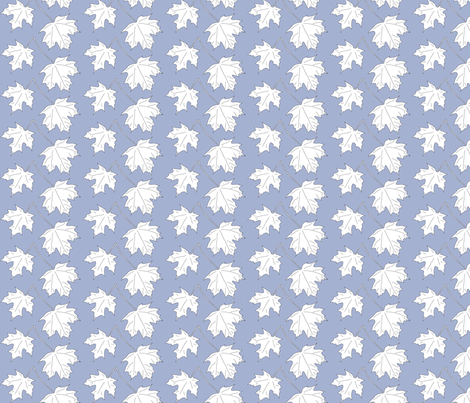 WRW-maple-2lvs-blwht fabric by mina on Spoonflower - custom fabric