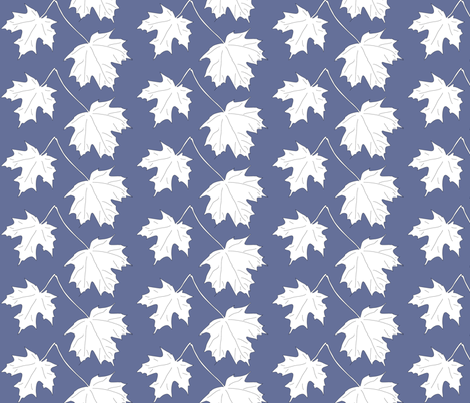 WRW-maple-2lvs-dkblwht fabric by mina on Spoonflower - custom fabric