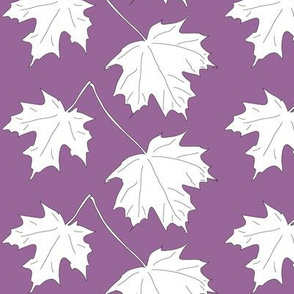 2 Maple Leaves-dark lilac