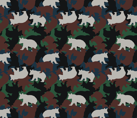 Little Bear Camo fabric by littlebear on Spoonflower - custom fabric