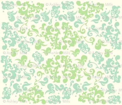 swirl damask
