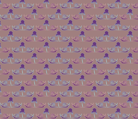 snail-iris-1BRN fabric by mina on Spoonflower - custom fabric