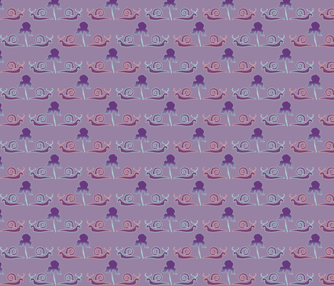 snail-iris-1PRPL fabric by mina on Spoonflower - custom fabric