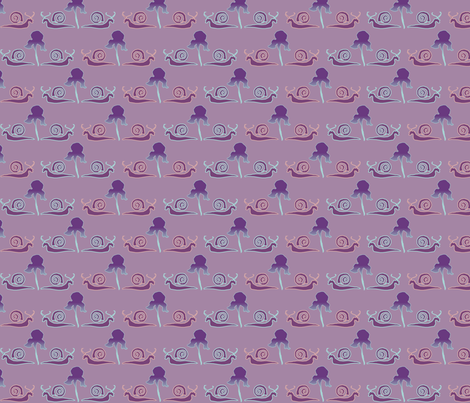 snail-iris-1LILAC fabric by mina on Spoonflower - custom fabric