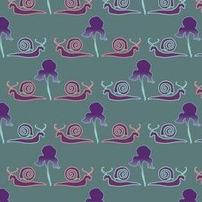 Snail & Iris-1_graygreen
