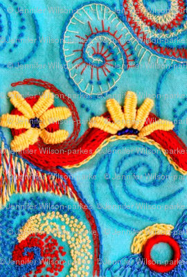 swirly embroidery