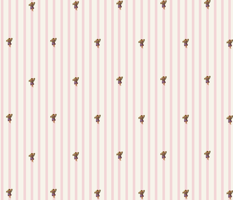 victoriana_pink_stripe fabric by chibibutterfly on Spoonflower - custom fabric