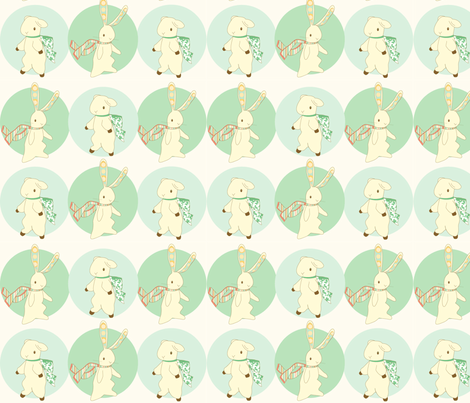 rabbit and lamb fabric by thehandmadehome on Spoonflower - custom fabric