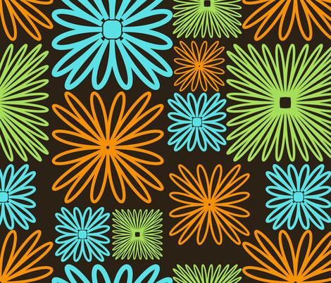 line flowers fabric by suziedesign on Spoonflower - custom fabric