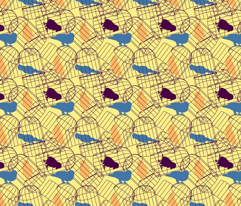 Caged fabric by bronhoffer on Spoonflower - custom fabric