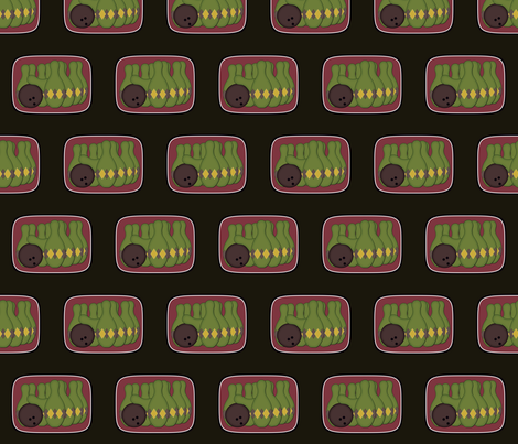 Retro Bowling fabric by jazilla on Spoonflower - custom fabric