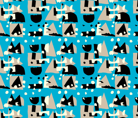 Gluekit: All Cut Up  fabric by gluekit on Spoonflower - custom fabric
