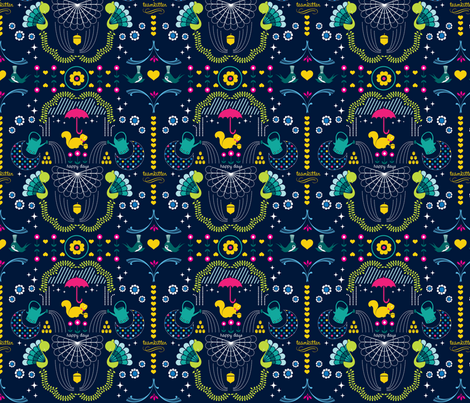 wonderfalls pattern fabric by teamkitten on Spoonflower - custom fabric