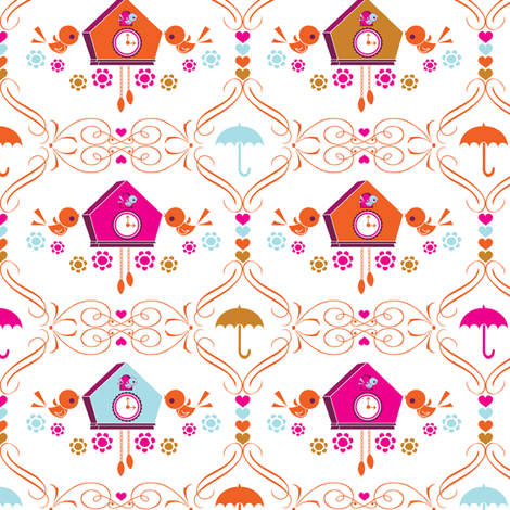 cuckoo cuckoo fabric by teamkitten on Spoonflower - custom fabric