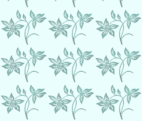 tjapflower3-ltaquagrn-SEAF-sm fabric by mina on Spoonflower - custom fabric