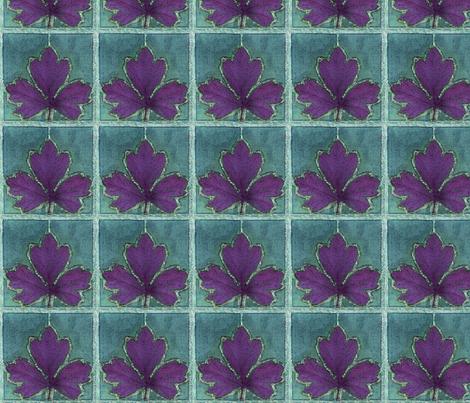 dye-paint-leaf-NEW-GRYBLGRN-REDVIOL fabric by mina on Spoonflower - custom fabric
