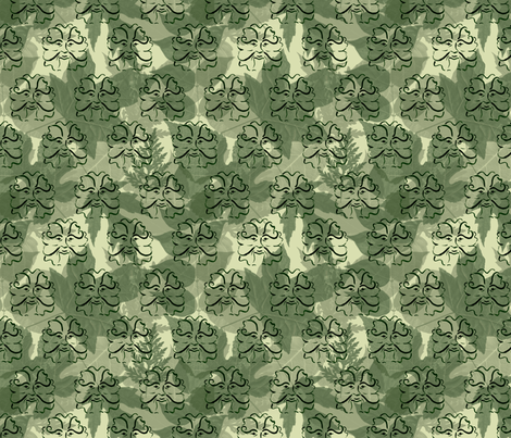 GreenMan fabric by leora_the_sane on Spoonflower - custom fabric