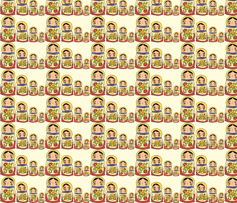 nestingdolls2 fabric by heidikenney on Spoonflower - custom fabric