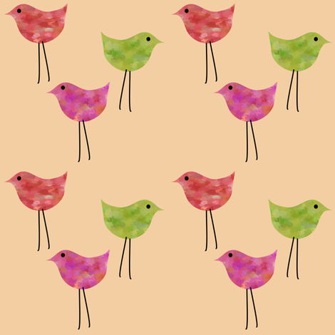 3birdsvo fabric by vo_aka_virginiao on Spoonflower - custom fabric