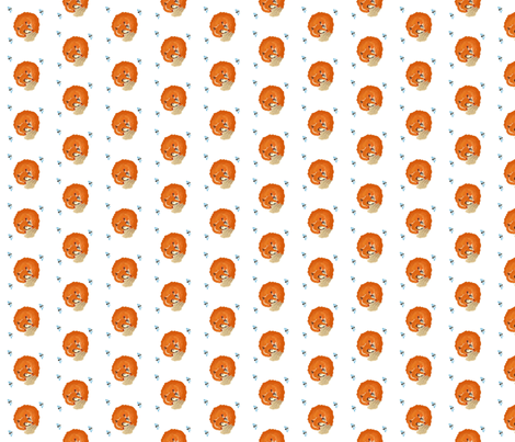 Sleeping fox fabric by itybitybags on Spoonflower - custom fabric