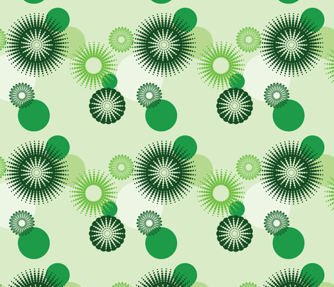 Circles - Green fabric by studiofibonacci on Spoonflower - custom fabric