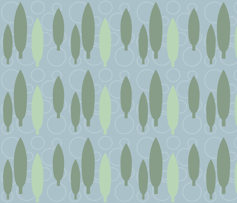 green_treesjpg fabric by vo_aka_virginiao on Spoonflower - custom fabric