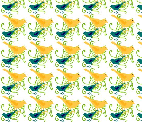 Birds fabric by sewdiva on Spoonflower - custom fabric