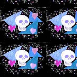 Original Gothic Skull Inverted