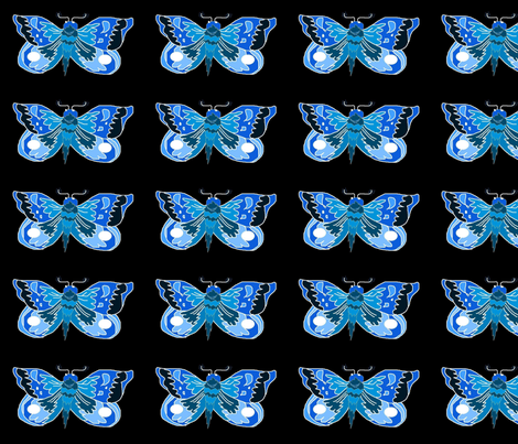 Blue_Moth fabric by eelkat on Spoonflower - custom fabric