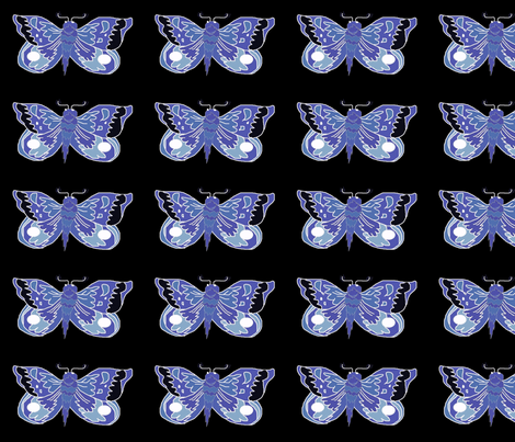 Blue_Moth_aaa fabric by eelkat on Spoonflower - custom fabric