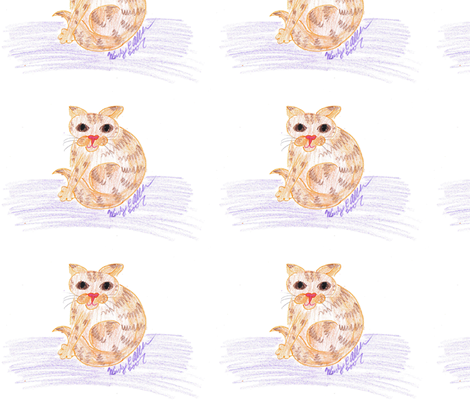 Orange_Cat fabric by eelkat on Spoonflower - custom fabric